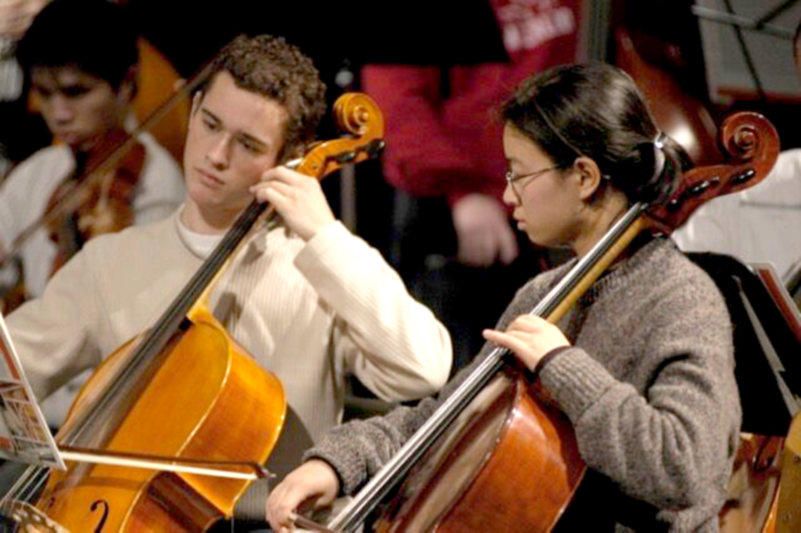 orchestra cellos