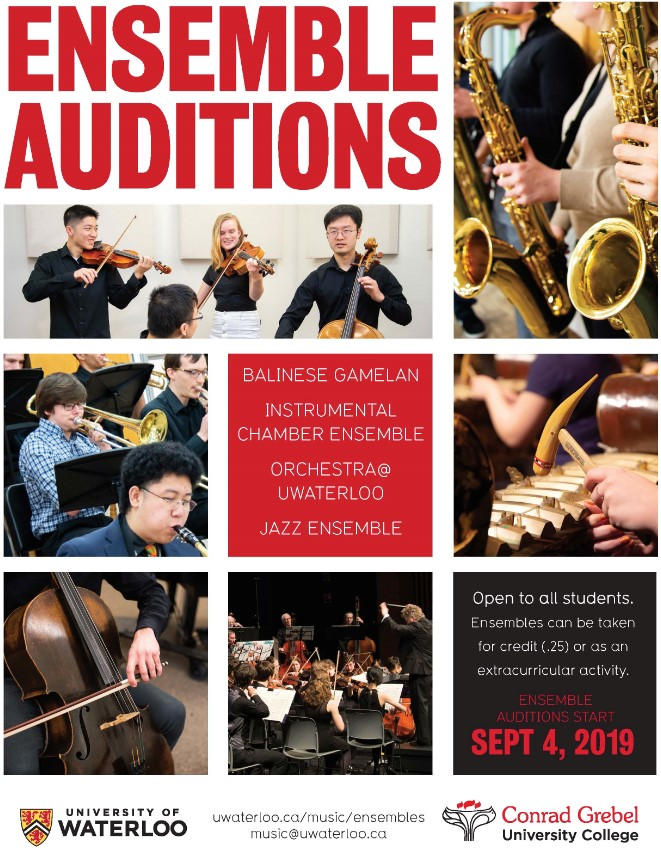Ensemble auditions