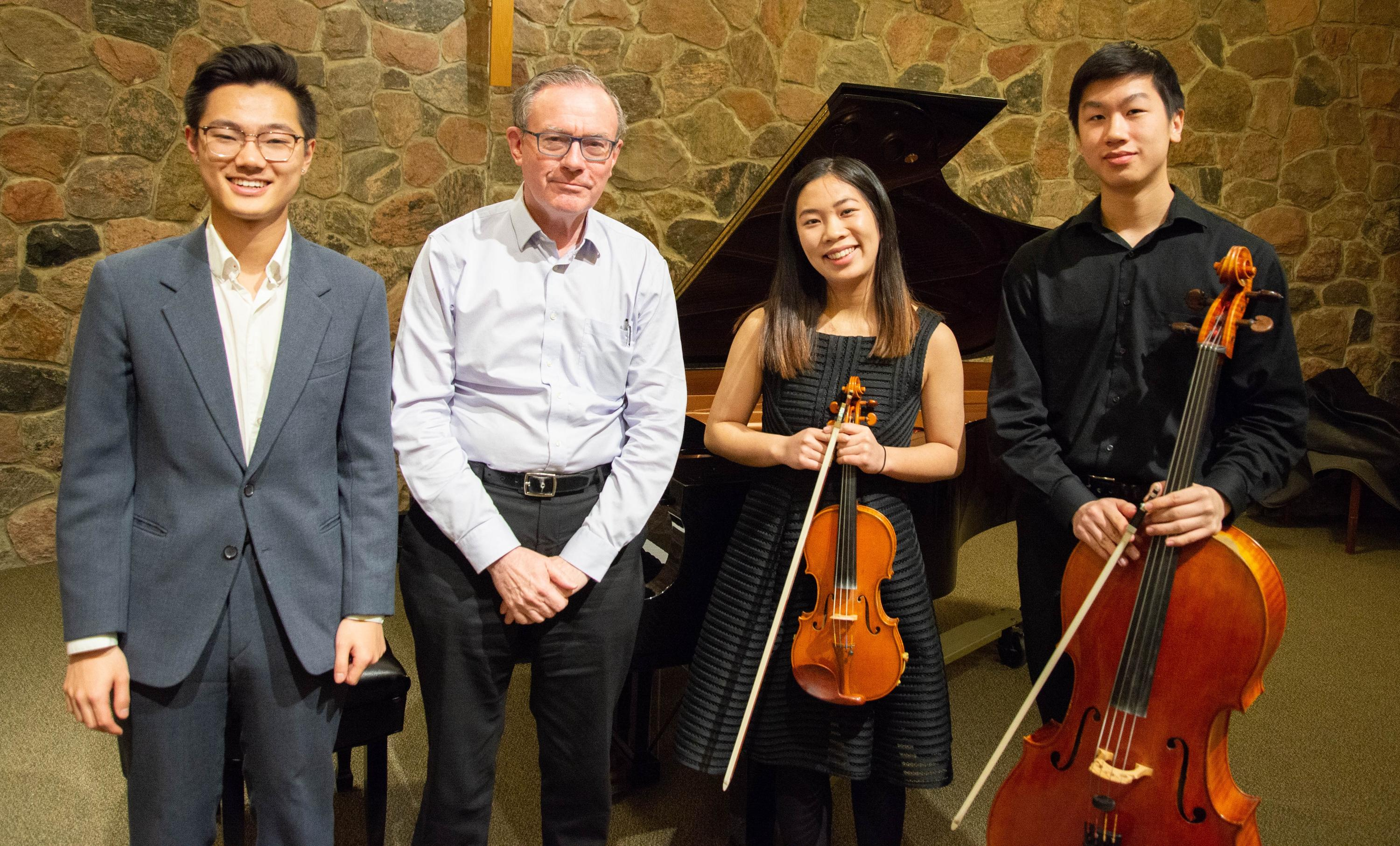 Concerto and Aria Competition finalists joined by Professor Emeritus David Taylor