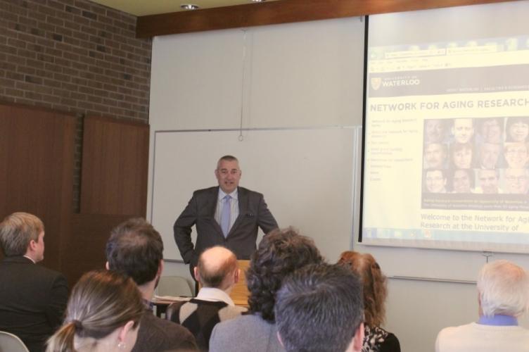 James Rush, Interim Dean of AHS, speaking at the event.