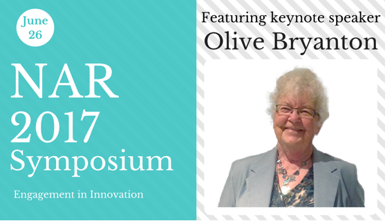 June 26 NAR 2017 Symposium featuring keynote speaker Olive Bryanton