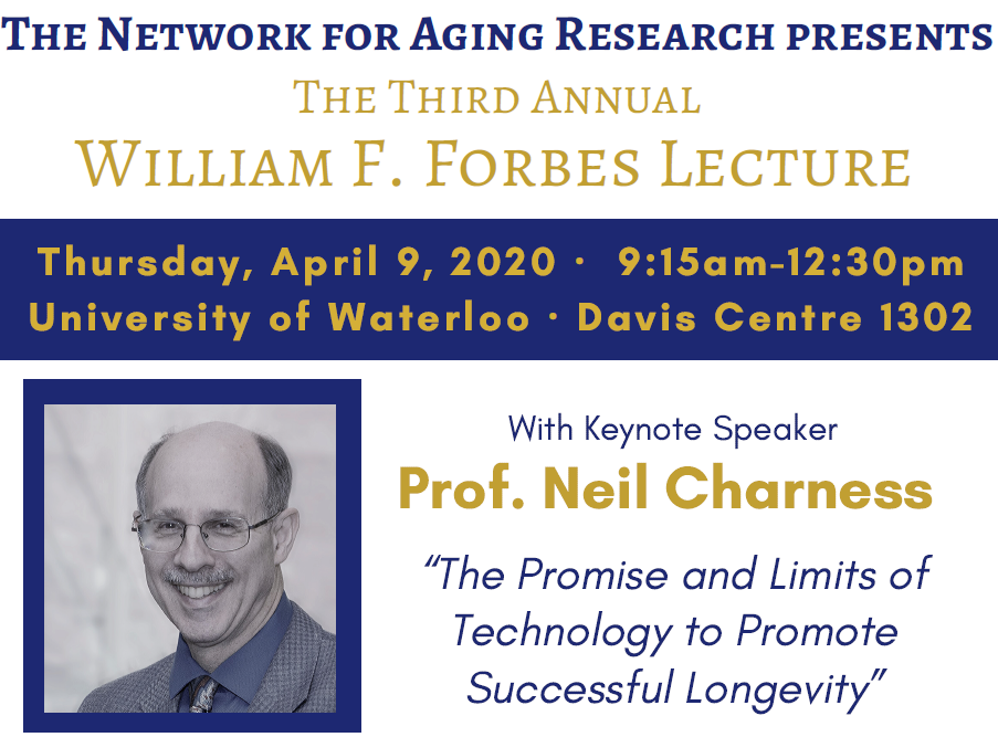Third annual william f forbes lecture, april 9, 2020, 9:15-12:30, University of Waterloo UC Davis 1302