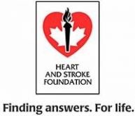 Heart and Stroke Foundation logo.
