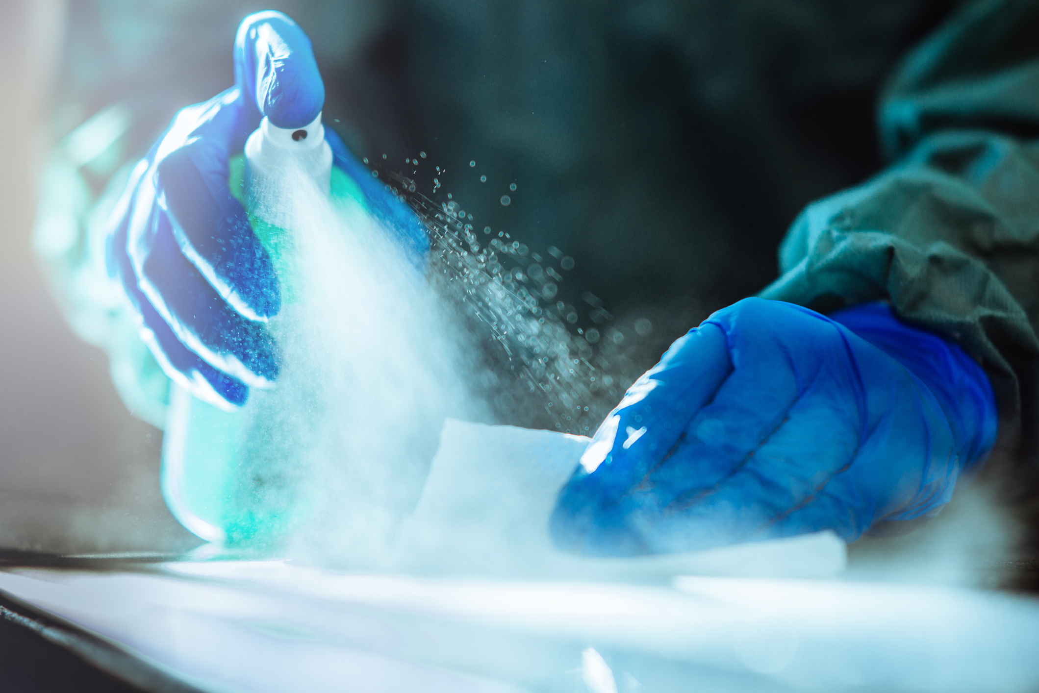 Applying UV Light to Common Disinfectants Makes Them Safer to Use