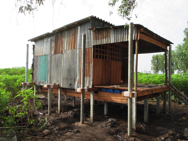 A retrofitted amphibious house in Vietnam
