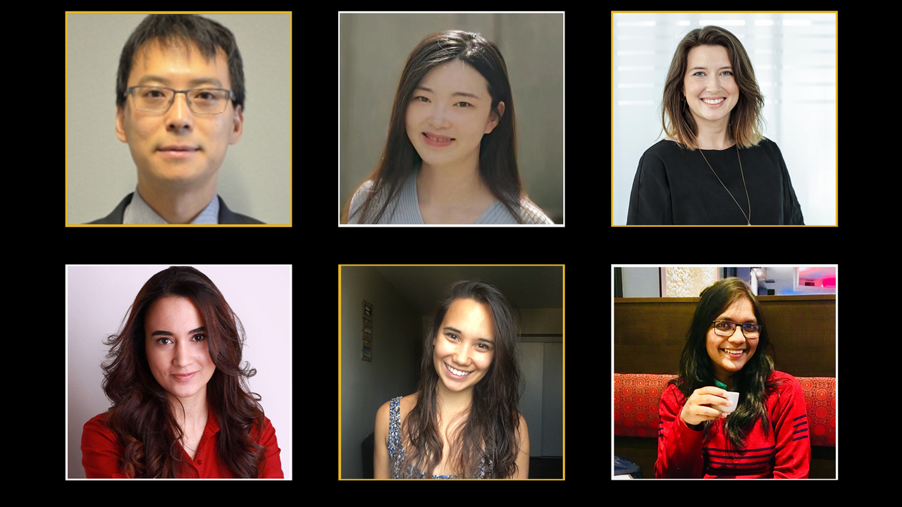 Headshots of featured PhD students
