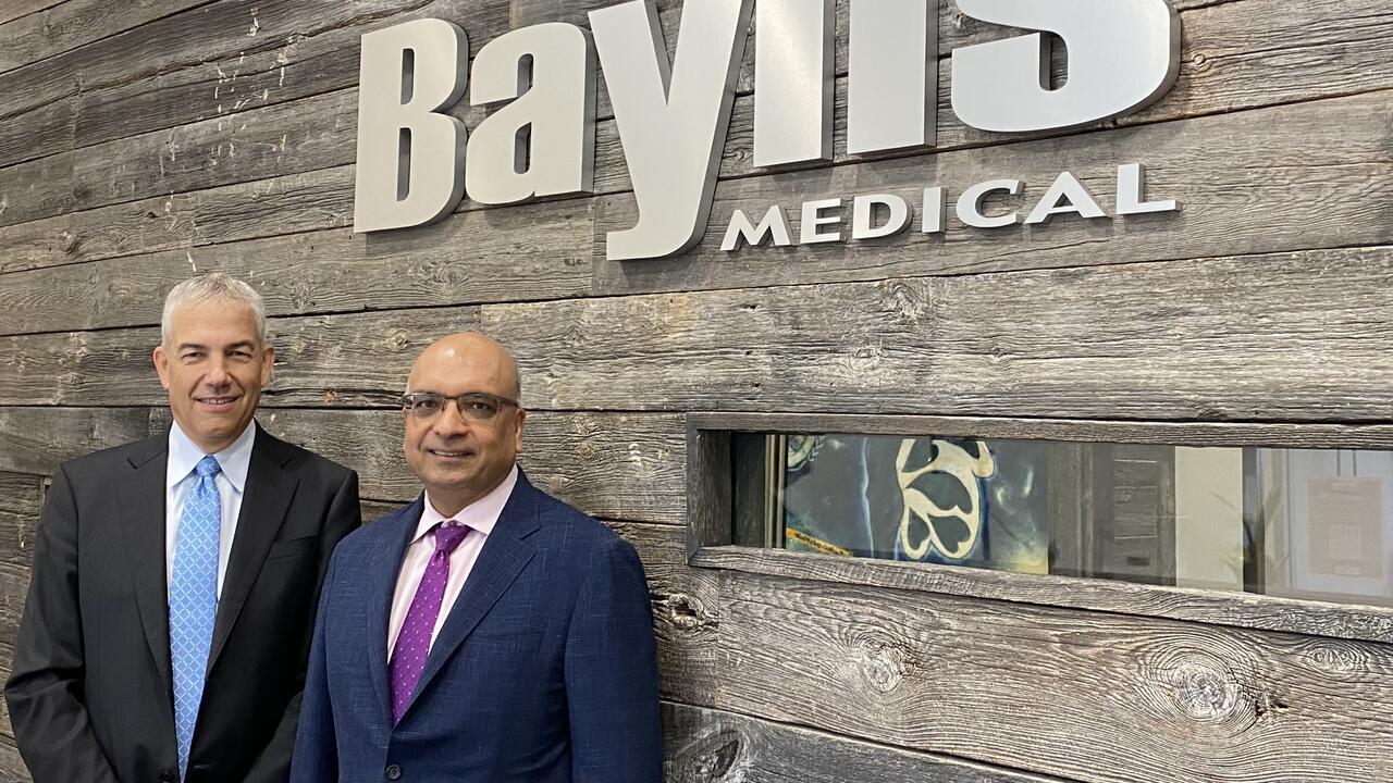 Frank Baylis, left, and Kris Shah of Baylis Medical.