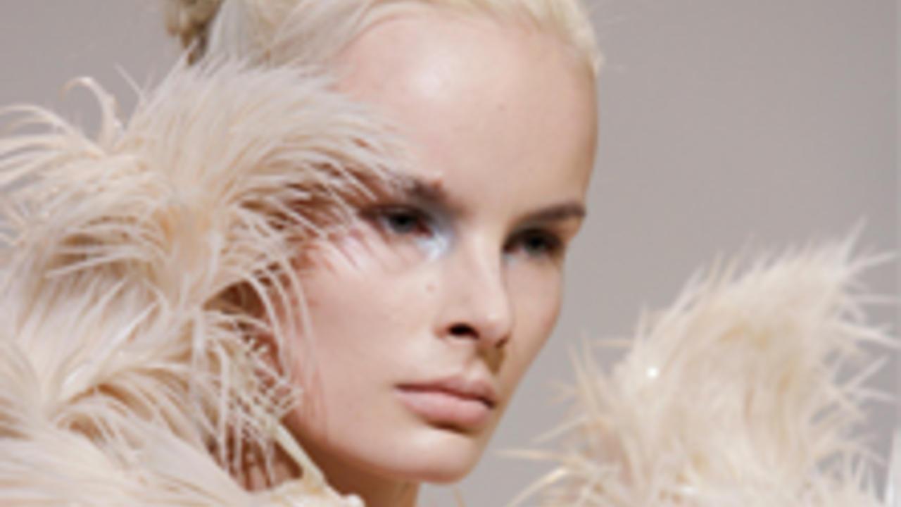 Model wearing one of Iris van Herpen's designs