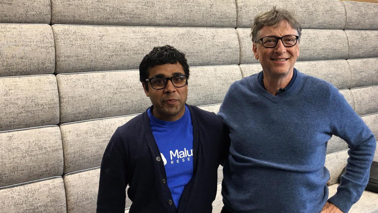 Sam Pasupalak with Bill Gates