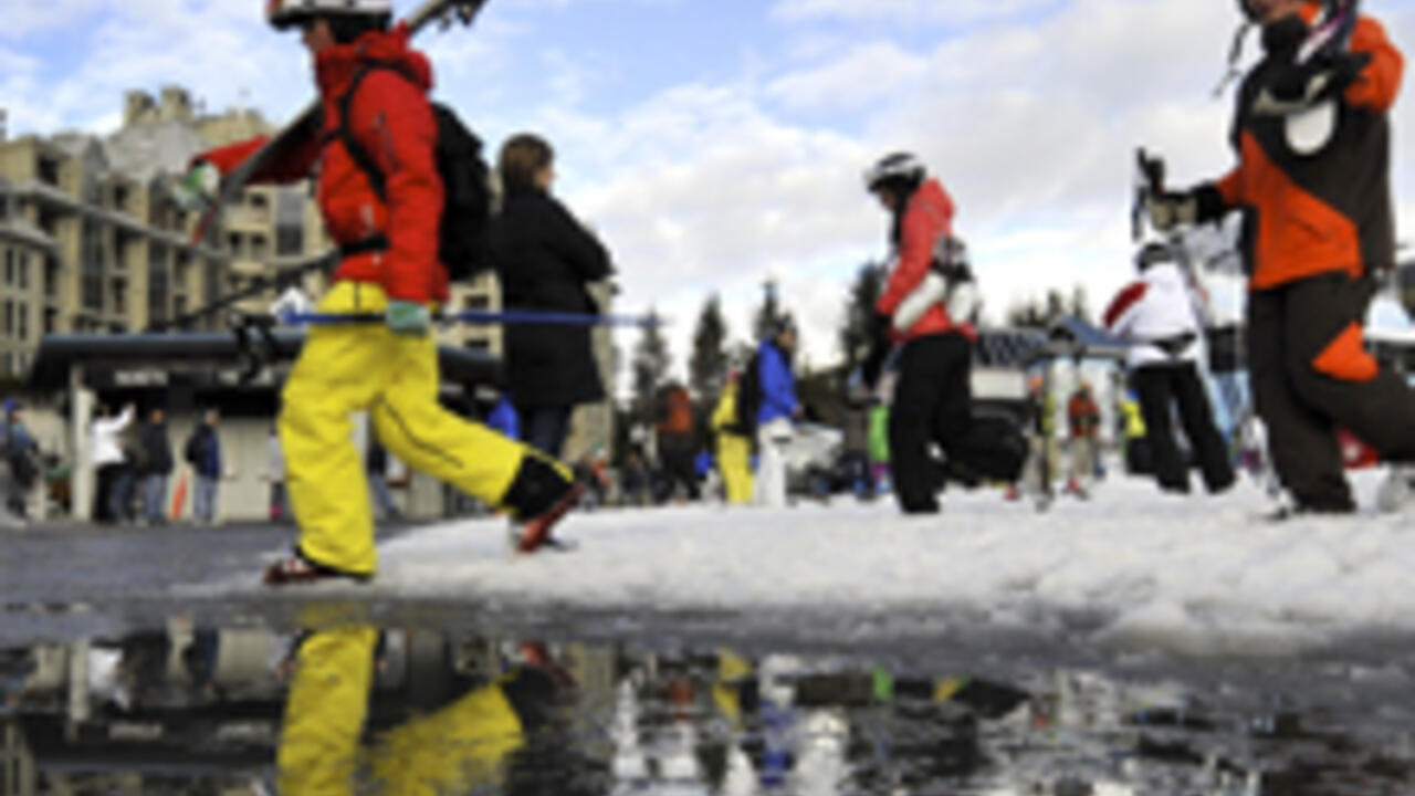 Climate change affects ski conditions