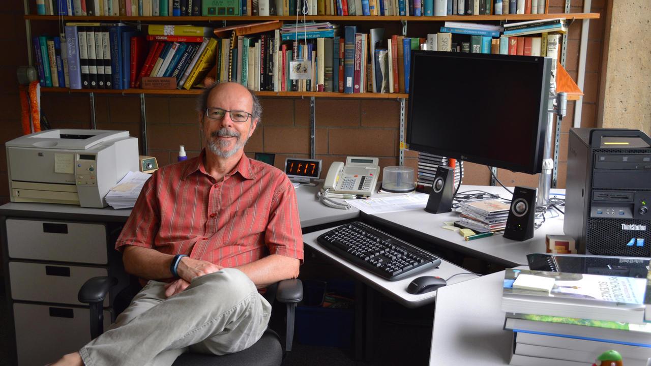 Professor Macleod in his office