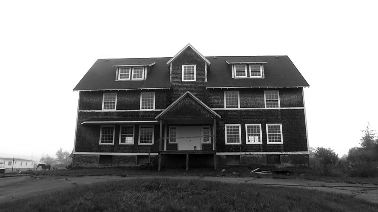 Black and white farmhouse