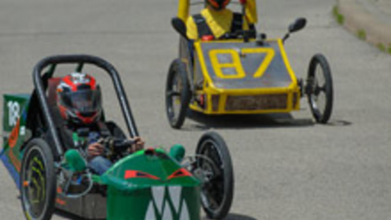 Electric vehicles racing at University of Waterloo