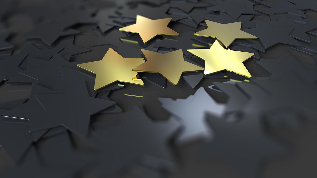Picture of black and gold stars