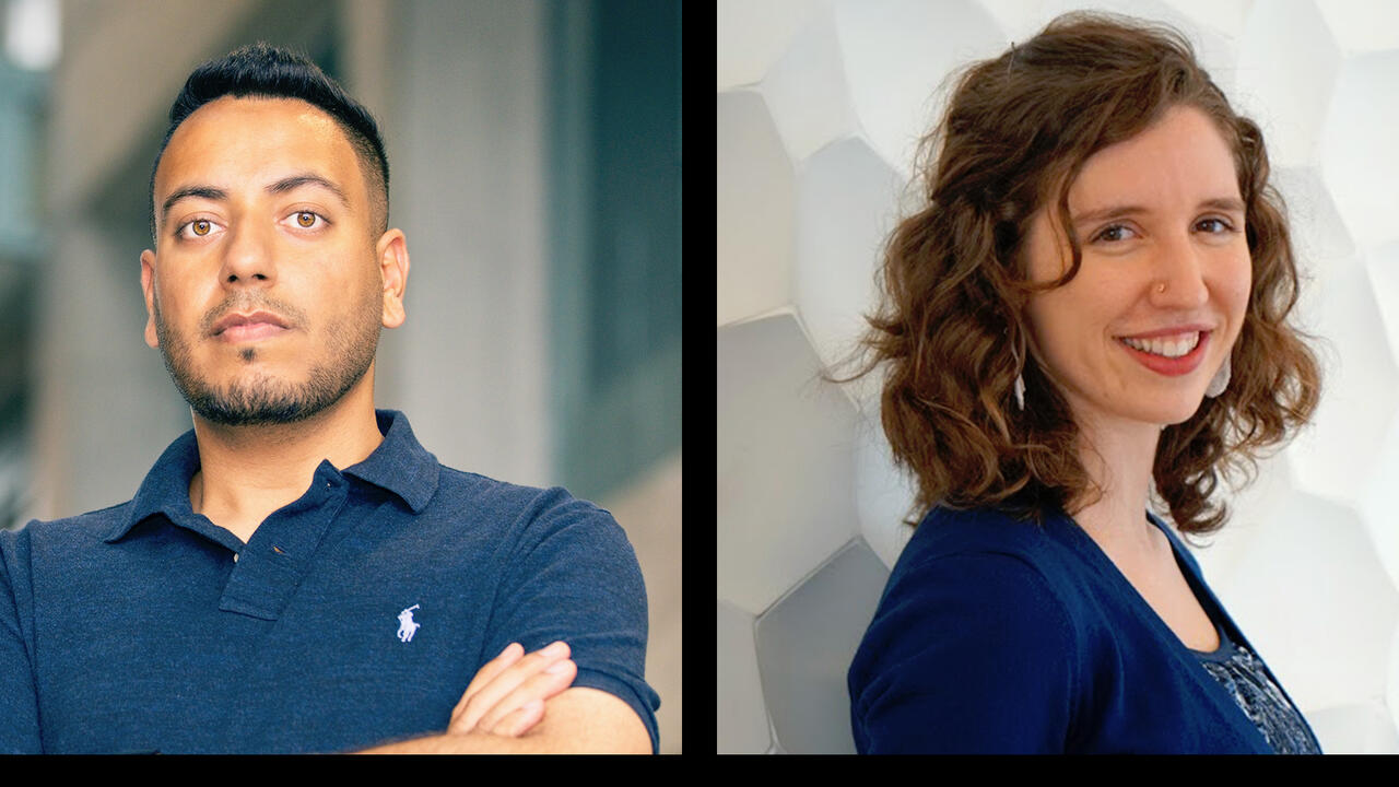 Portrait photos of Sara and Tejinder, this year's governor general gold winners