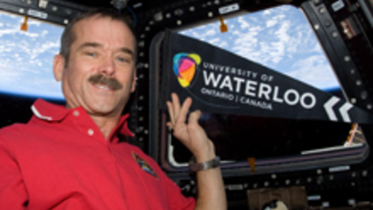 Chris Hadfield abord the International Space Station