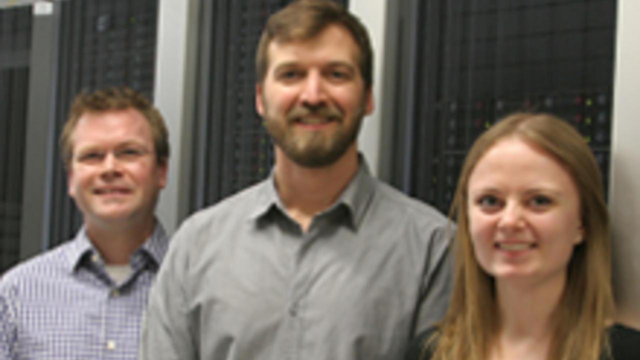 Roger Melko, David Hawthorn and Lauren Hayward