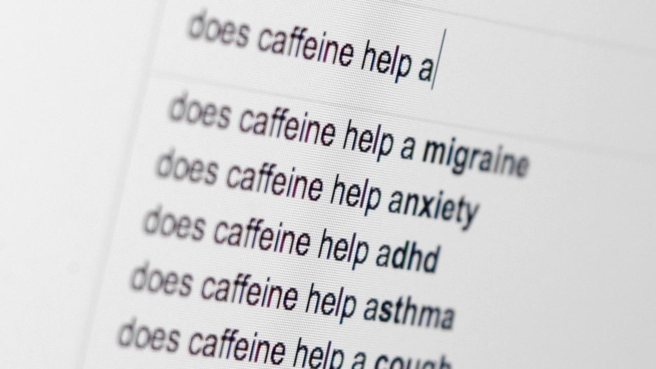 Internet search for remedies associated with caffeine.