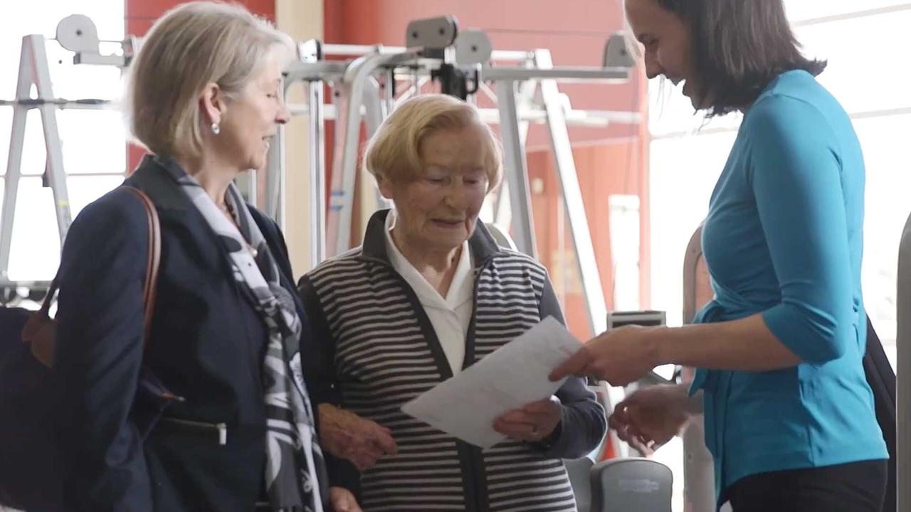 Laura Middleton with patients