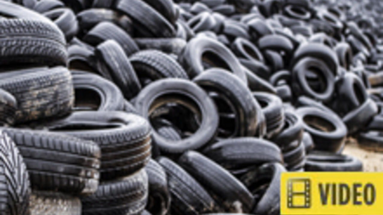 Landfill full of tires - article contains video