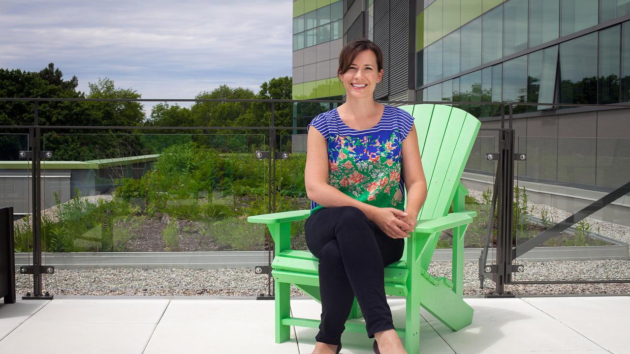 Sarah Burch sitting outside Environment 3