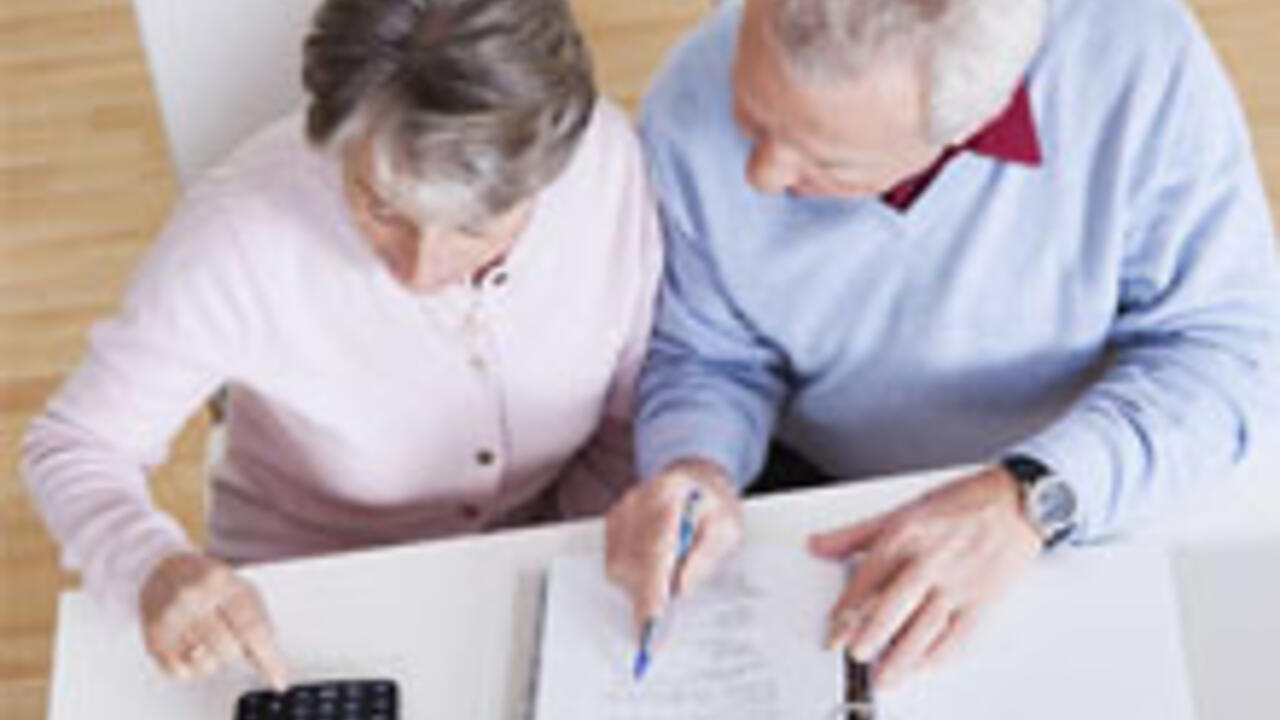 Seniors working on financials