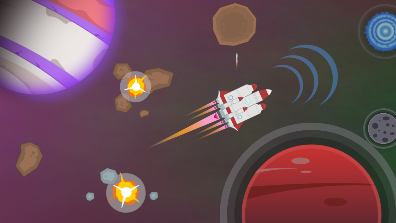Image from a space video game used in an activity for engineering students.