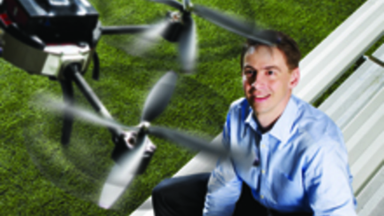 Aeryon Lab's Scout drone using WAVElab controllers