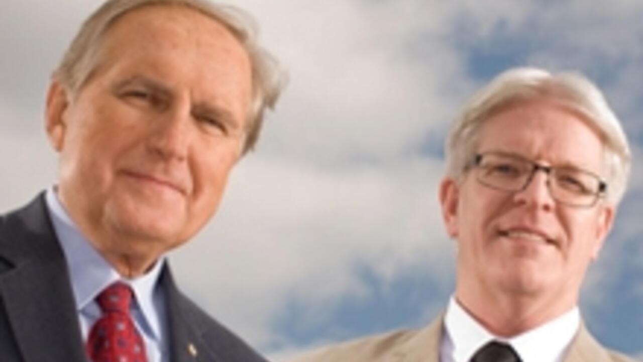 Hon. Roy Romanow and Bryan Smale