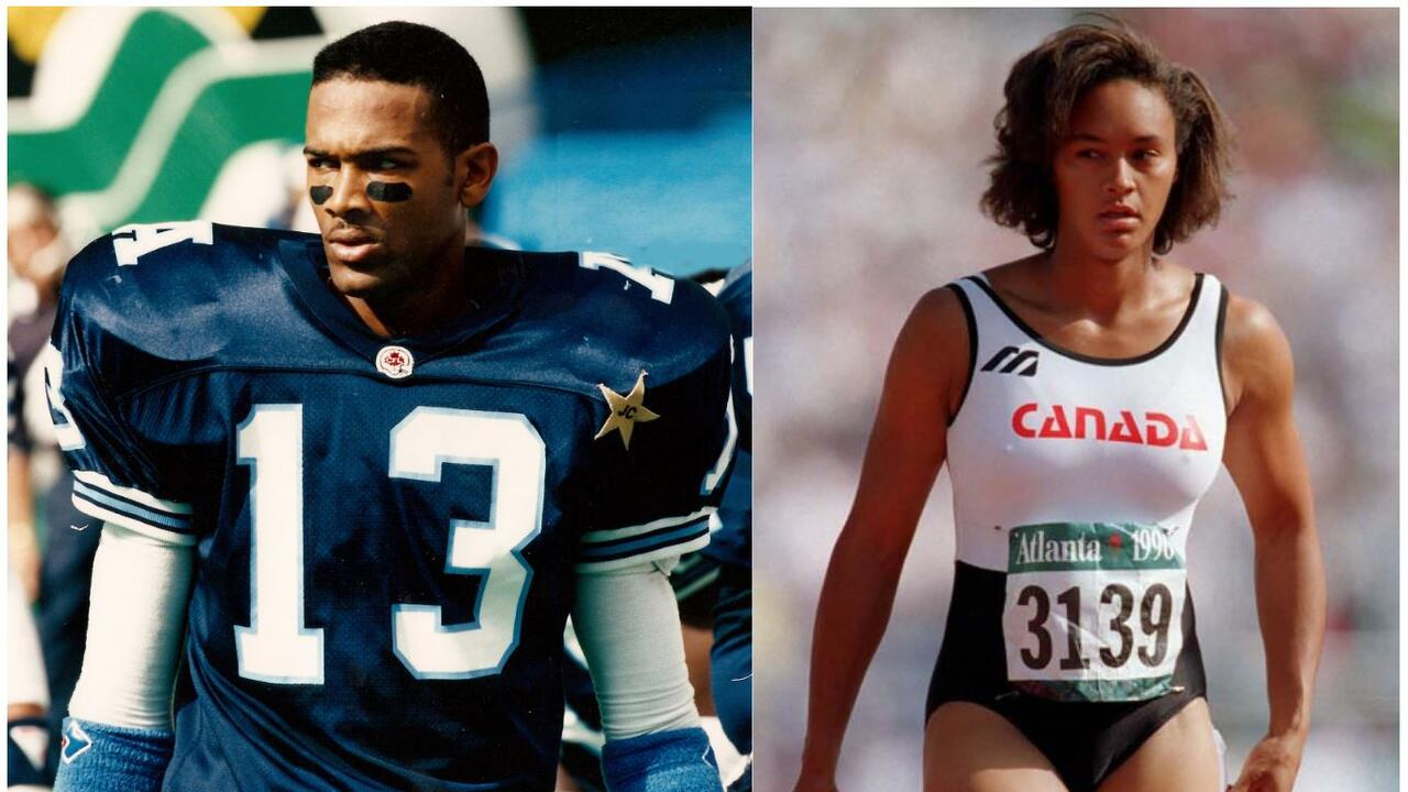 Taly Williams (left) and his sister Lesley Tashlin will be honoured for their athletic achievement in their hometown.