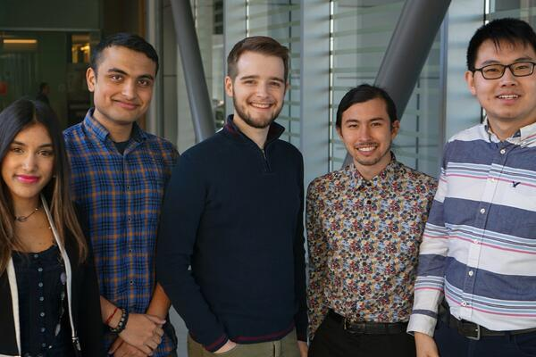 Members of student team Scope, runners-up in the 2020 James Dyson Award for Canada.