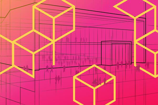 Innovation arena pink building