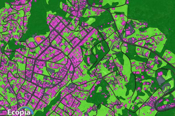 satellite image of land