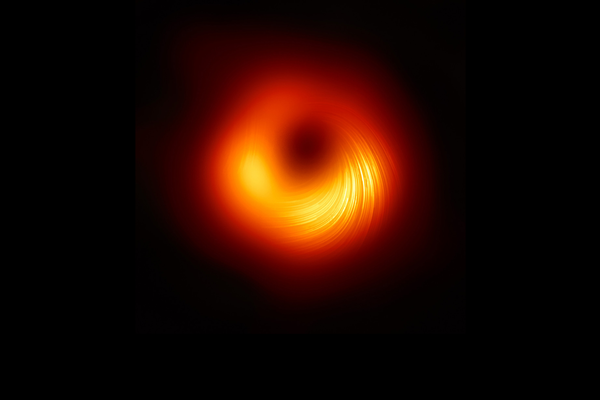 A view of the M87 supermassive black hole in polarised light