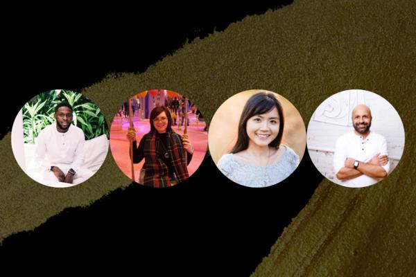 Headshots of Sefunmi Osnaike, Melanie Osmond, Vy Le and Farhan Thawar