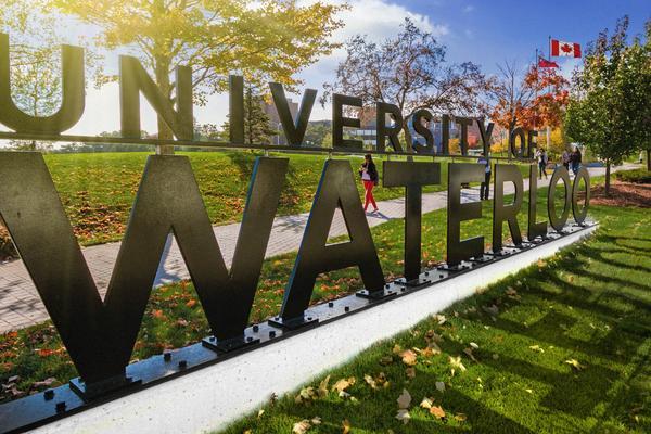 University of Waterloo entrance sign