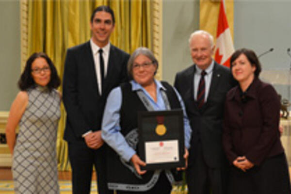 Susan Roy receives a joint Governor General History Award