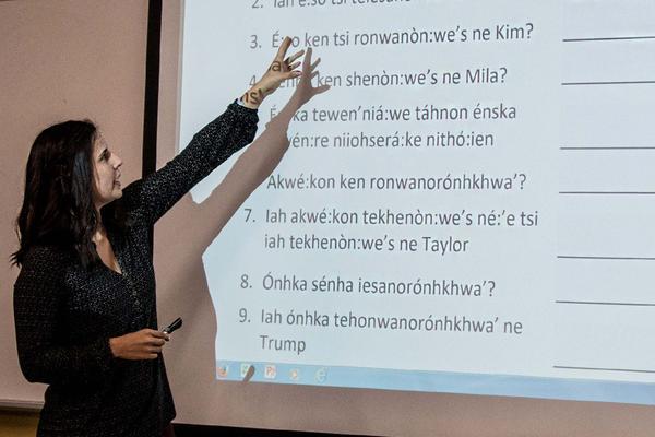 Nicole explaining test