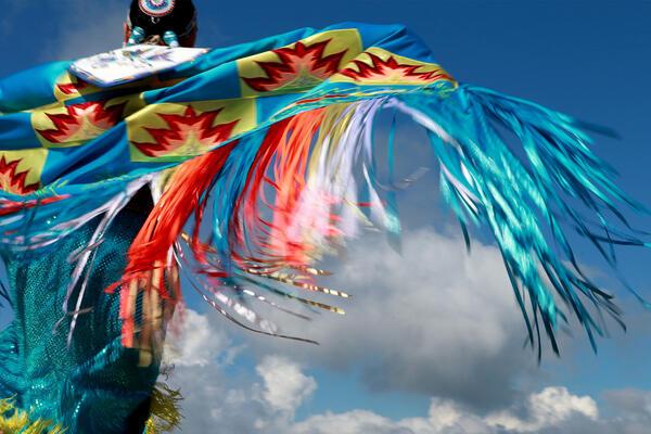 An Indigenous dancer