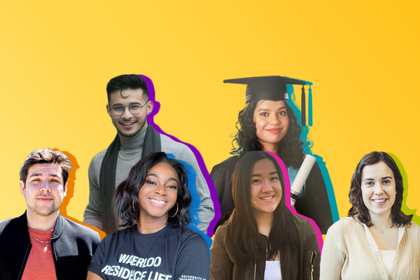 Graphic of class of 2021 valedictorian portraits