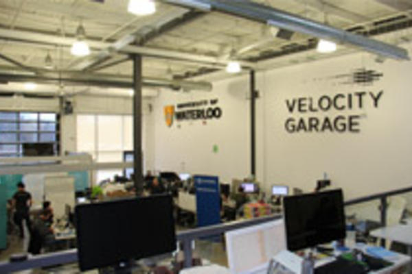 Workspaces inside the Velocity Garage