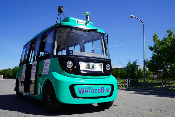 Waterloo's driverless, autonomous shuttle that will transport students and staff across campus