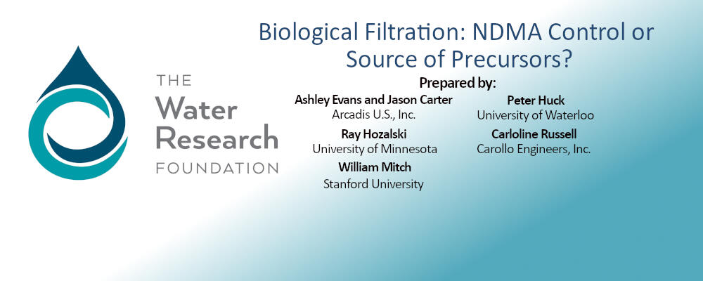 WRF report published: Biological Filtration: NDMA Control or Source of Precursors?