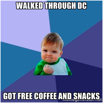 Baby meme for free coffee & snacks