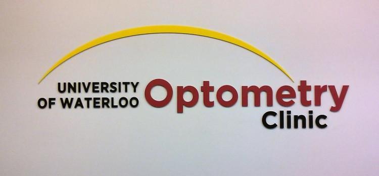 University of Waterloo Optometry Clinic sign