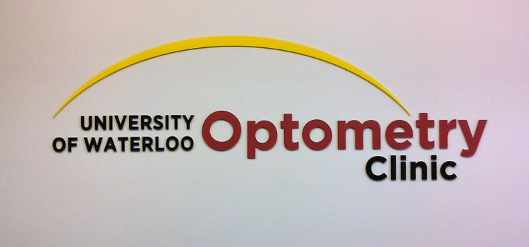 University of Waterloo Optometry Clinic sign