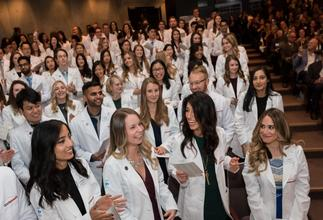 White coat ceremony image from last year