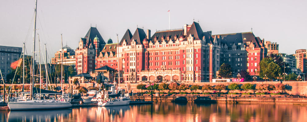 View of Inner Harbour in Victoria, BC