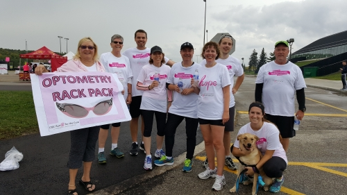 2016 CIBC Run for the Cure participants from the School of Optometry and Vision Science