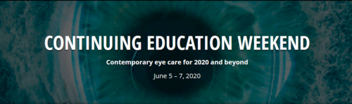 Contemporary eye care for 2020 and beyond - June 5-7, 2020